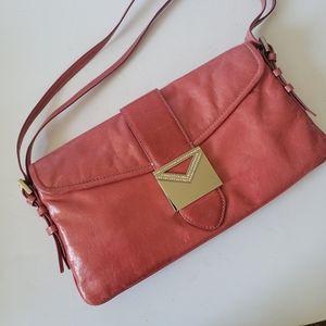 Via Spiga Pink Leather Shoulder Bag Purse